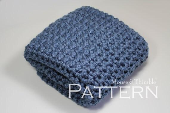 "Chunky Afghan Baby Blanket Super Bulky Crochet Tutorial 32"" x 24""/(81 x 61) cm - PDF 3224"