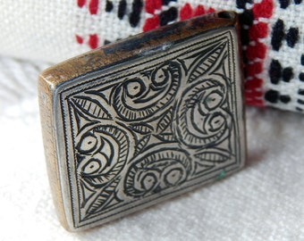 Lovely MOROCCAN Kitab Amulet; Traditional Tribal Symbols; Protective Amulet; Western Saharan Pendant; Unique Pendant; Collectors Piece.