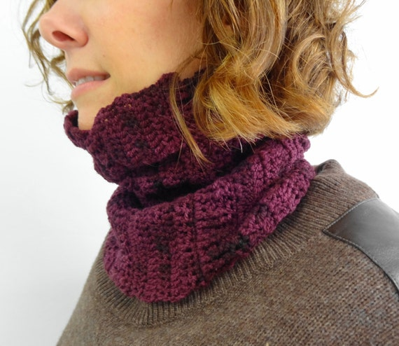 Ruched Cowl Knitting Pattern : Crumple Cowl - Crochet Pattern - PATTERN ONLY - Cowl - Neck Warmer - Scarf - ...