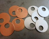 7/8 Inch OD Offset Washer Blanks, Set of 4, Aluminum or Copper, Ready to Ship!