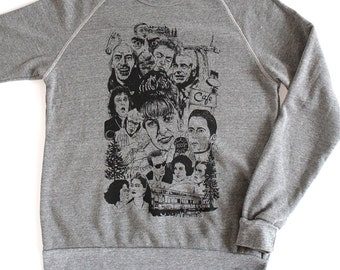 TWIN PEAKS revival DAVID Lynch megastar studded Sweatshirt