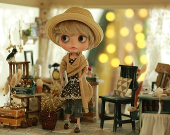 Miss yo 2015 Summer & Autumn - Mori Style Sweater for Blythe / JerryBerry doll - dress / outfit - Beige