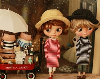 Miss yo 2015 Summer & Autumn - Long Sleeves One-Piece Dress for Blythe / JerryBerry doll - dress / outfit - 2 colors in