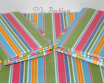 """10ct. PASTEL STRIPED Tissue Paper for Gift Bags 20x30"""" Blue, Green, Pink, Mango, White"""