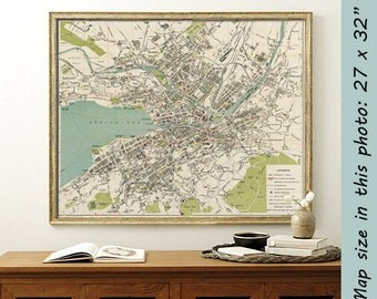 Old map of Zurich -  Archival reproduction - Zurich map fine print