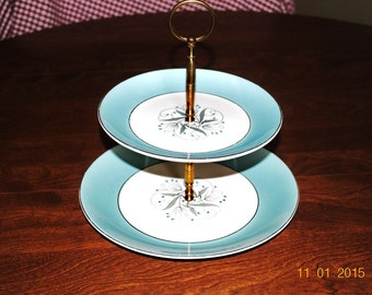 Homer Laughlin Pattern RY308 2 Tiered  Server Dish