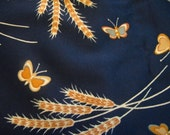 Navy blue upholstery fabric by Alan Naness for Design Resources vintage 1979 3 yards  plus