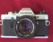 OLYMPUS OM-10 35mm SLR Film Camera w 50mm f1:1.8 lens