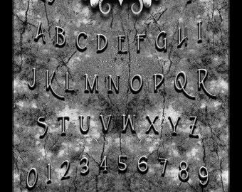 Delaware Dellamorte Ouija style Talking-board, Spiritboard, Witchboard