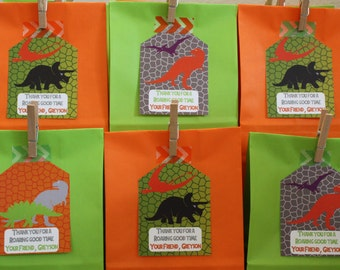 Dino Party Favor Tag