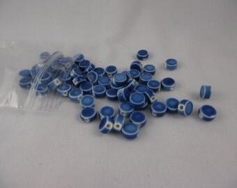 Beads Cornflower Blue Coin Beads Porcelain 8 mm Pkg of 68
