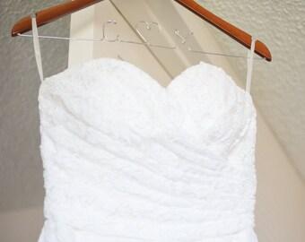 Wedding Dress Hanger, Bride Hanger, Wedding Party Gift, Bridesmaid, Name Hanger, Classic Hanger