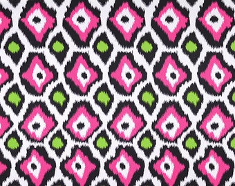 Adrian Candy Pink Chartreuse Green Curtain Panels 24w or 50w x 63, 84, 90, 96, 108, 120 L Premier Prints Extra Long Length