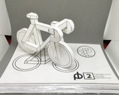 50% off sale! paperbikes v2  - PRINTED fixed gear bike - papercraft bicycle