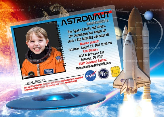 astronaut invitations - photo #11