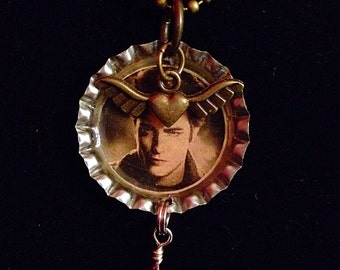 Bottle Cap Charm Necklace Edward Cullen of Twilight - Valentine's Day, Birthday Gift -Handcrafted - FREE SHIPPING