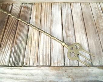 Vintage Brass Fork