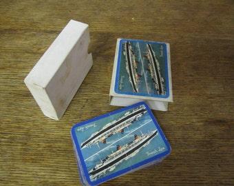 Transatlantique/French Line Playing Card Deck.