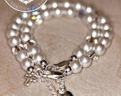 Godmother and Goddaughter bracelet,  Baptism, blessing, christening,communion, godmother gifts, by JewlesDesigns on etsy