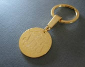 Gold Laser Engraved Monogram Keychain - 4 different pendant sizes