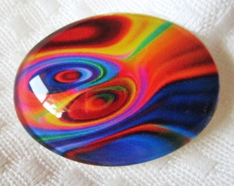 Oval Glass for beading- Focal designer cabochon-30mmX40mm cabochon