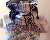 Wool Baja Hippie Scarf Mexican Fringe Neck Warmer