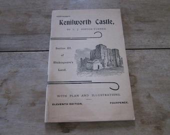 Vintage 1920s Travel Booklet Kenilworth Castle by C J Ribton-Turner