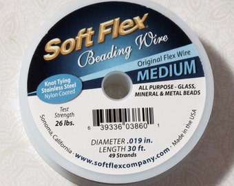 Soft Flex Medium in Original Stainless Steel 30ft Spool .019 inch 26lb test