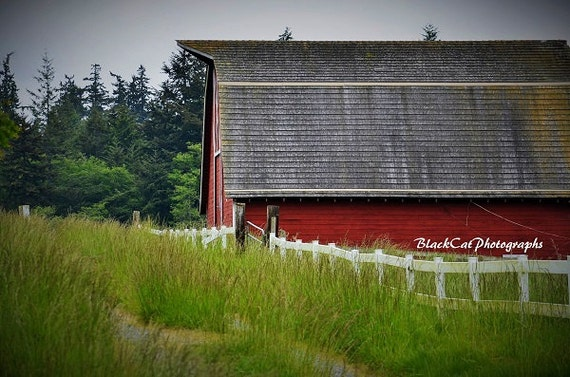 Red Barn Wall Decor : Items similar to barn photography rustic wall art red