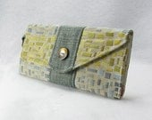 Upcycled Wallet with Cool Mosaic Print