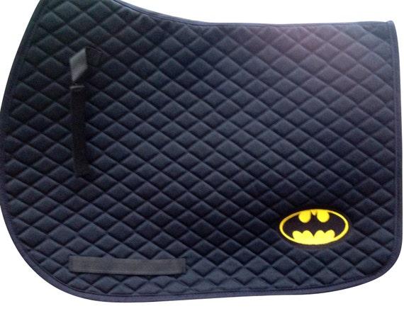 Batman Logo Brod Tapis De Selle A P Poney Ou Dressage