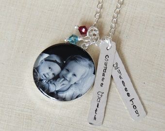 CUSTOM Photo Necklace - Picture Necklace - Custom Necklace - Mom Necklace - Personalized Jewelry - Anniversary - Mother's Day Jewelry