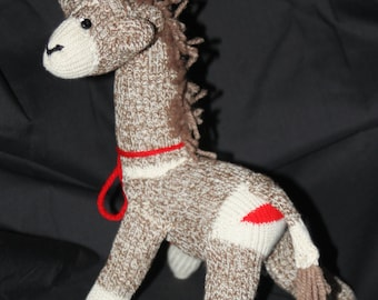 Handmade Mini Sock Monkey Giraffe