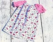 Hello Kitty Dress - Peasant Dress