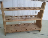 vintage cenco science laboratory wooden test tube rack