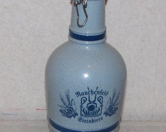 Vintage Rauchenfels Steinbiere Porcelain Krug Beer Stein Bottle