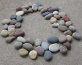 Lot of 50 Colorful Beach Stones Mosaic Craft Supplies Lake Michigan