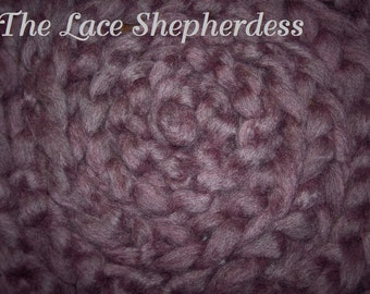 """Hand dyed Coopworth Wool Pin Draft Roving.  7.8 oz.""""Heather I"""""""