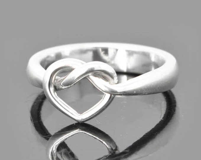 Infinity Ring, Engraving Ring, Heart Infinity Ring, Knot, Best Friend, Promise, Personalized, Friendship, Sisters, Mother Daughter, Sterling