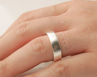 Personalized Bible verse ring- silver imprint band