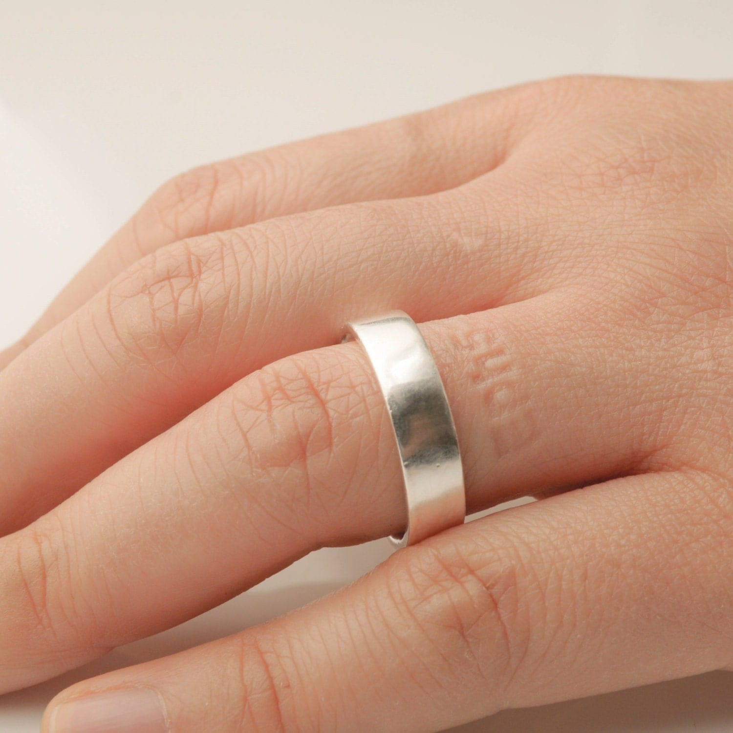 Personalized Bible verse ring silver imprint band