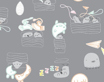 Cloud9 Organic Fabrics - Monsterz - Sweet Dreamz 1/2 YD
