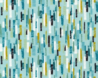 Cloud9 Organic Fabrics - Shape of Spring - Line Up Robin's Egg 1/2 YD