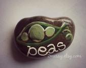 Veggie Garden Rocks - Peas