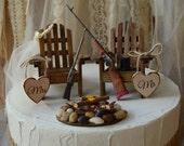 shot gun-riffle-hunting-wedding-cake topper-gun-deer hunter-hunting groom-grooms cake-Mossy oak-themed-camouflage-gun cake topper-deer-bear