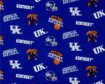 University of Kentucky Allover Print Fabric