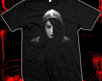 The Girl With The Dragon Tattoo - Noomi Rapace, Stieg Larsson - Pre-shrunk, hand screened, 100% cotton t-shirt