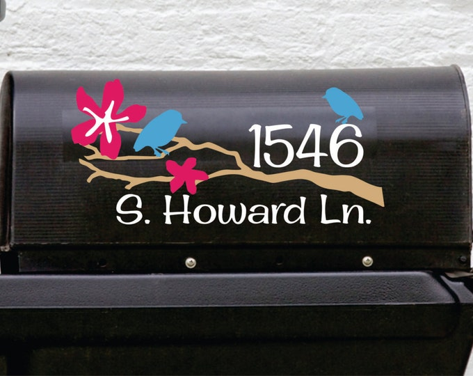 Mailbox Decal - Small Decal - Bird Mailbox Decal - Front Door Personalized Decal - Personalized Decals