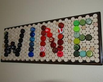 WINE Screw Cap and Wine Cork Board Wall Decor