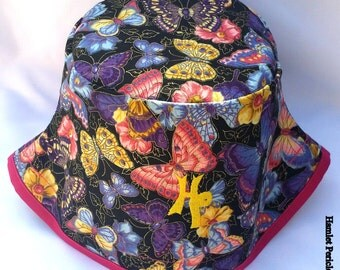 Butterflies All over | Butterfly Hat  | Multicolored Butterfly Women's Bucket Hat by Hamlet Pericles | HP13115